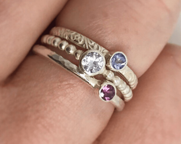 birthstone stackable rings birthstone rings for mom birthstone rings mothers day