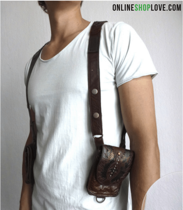 Leather Shoulder Holster Bag