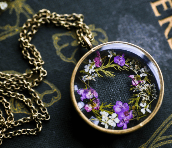 Real Pressed Flower Necklace