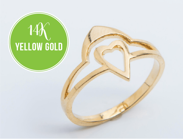 heart ring yellow gold heart rings simple heart rings