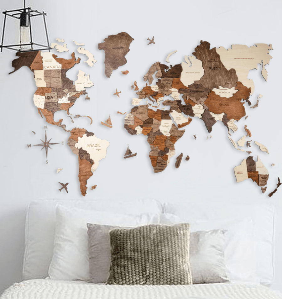 retirement gift ideas world wall map