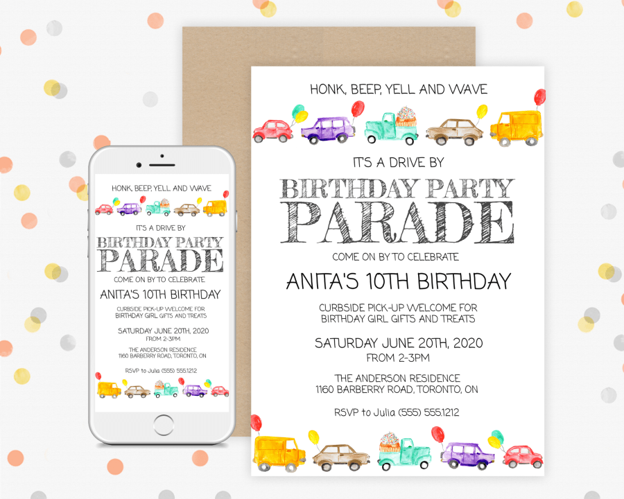 Birthday Parade Invitation