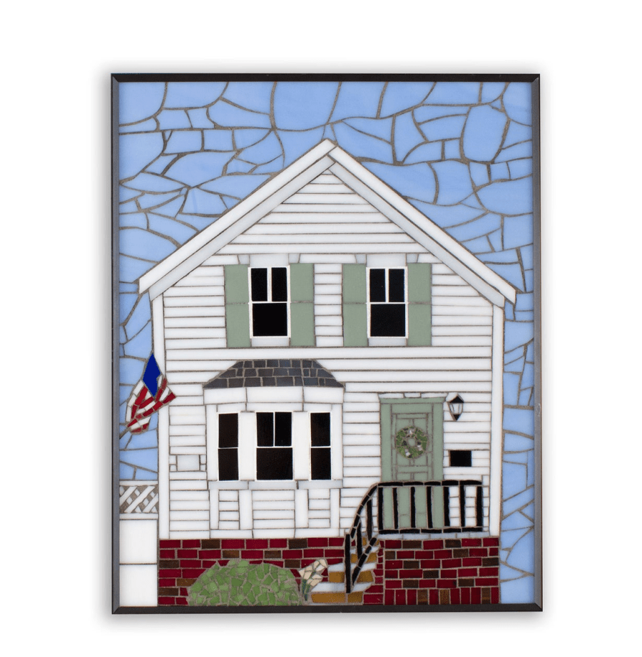 custom home portrait mosaic tile