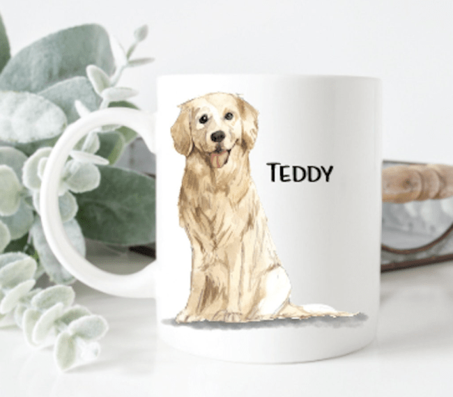 personalized dog mug with picture