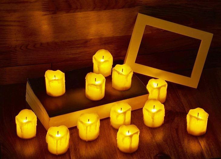 DesiDiya Acrylic LED Tea Light Candles for Diwali - Made in India