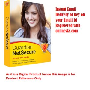 Gardian Netsecure Antivirus 1 PC 1 Year Latest Version ( Instant Email Delivery of Key ) No CD Only Key