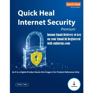 Quick Heal Internet Security Premium 10 PC 1 Year Latest Version ( Instant Email Delivery of Key ) No CD Only Key