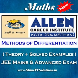 Methods of Differentiation - Mathematics Allen Kota Study Material for JEE Mains and Advanced Examination (in PDF)