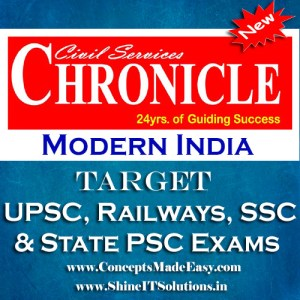 Modern India - Chronicle IAS Academy Study Material for UPSC Railways SSC and State PSC Examination (in PDF)