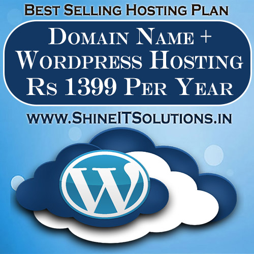 Domain Name + Wordpress Hosting at Rs 1399 Per Year   Best Plan of Shine IT Solutions