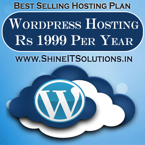 Wordpress Hosting at Rs 1999 Per Year   Best Plan of Shine IT Solutions