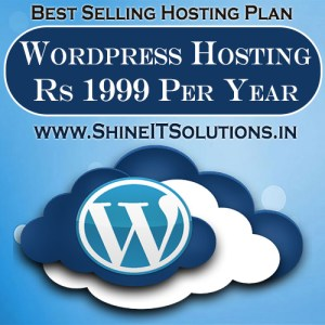 Wordpress Hosting at Rs 1999 Per Year | Best Plan of Shine IT Solutions