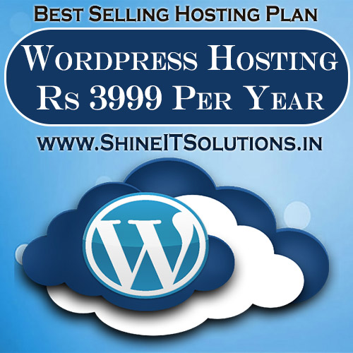 Wordpress Hosting at Rs 3999 Per Year | Best Plan of Shine IT Solutions