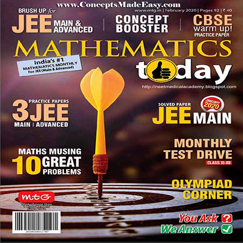 Mathematics Today February 2020 Magazine - Mathematics JEE Practice Set for JEE Mains and Advanced Examination in PDF