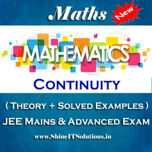 Continuity - Mathematics Best Kota Study Material for JEE Mains and Advanced Examination (in PDF)