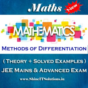 Methods of Differentiation - Mathematics Best Kota Study Material for JEE Mains and Advanced Examination (in PDF)