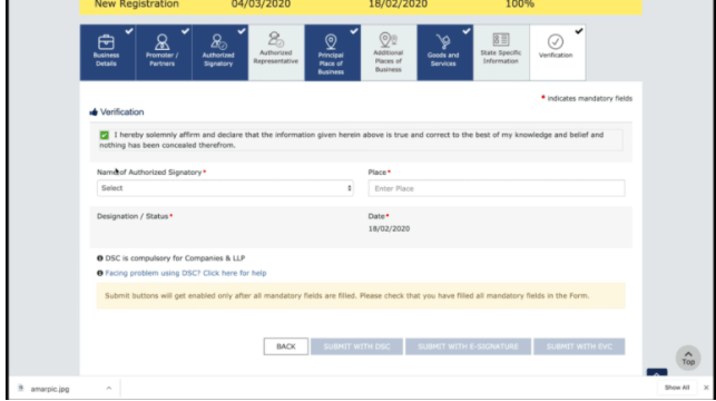 Online GST Registration In Hindi 2021