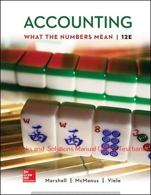 Accounting: What the Numbers Mean 12th Edition By David Marshall and Wayne Mc Manus and Daniel Viele © 2020 Solution Manual