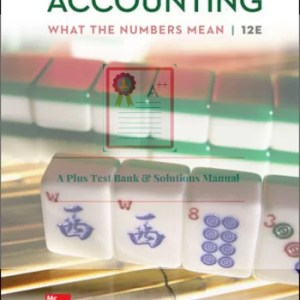 Accounting: What the Numbers Mean 12th Edition By David Marshall and Wayne Mc Manus and Daniel Viele © 2020 Test Banks and  Solutions Manual