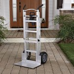 Cosco-Products-12312ABL1E-3-in-1-Aluminum-Hand-TruckAssisted-Hand-TruckCart-with-Flat-Free-Wheels-AluminumBlack-0-0