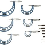 Fowler-52-215-006-1-Inch-Micrometer-with-Satin-Chrome-Finish-0-6-Measuring-Range-0001-Graduation-Interval-Set-of-6-With-Full-One-Year-Warranty-0-0