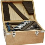 Fowler-52-215-006-1-Inch-Micrometer-with-Satin-Chrome-Finish-0-6-Measuring-Range-0001-Graduation-Interval-Set-of-6-With-Full-One-Year-Warranty-0-1