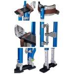 24-40-Aluminum-Drywall-Stilts-Tool-Stilt-For-Painting-Taping-Finishing-Blue-Color-0-0