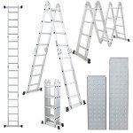 ARKSEN-155FT-Platform-Multi-Purpose-Folding-Multi-Fold-Step-Aluminum-Ladder-EN131-Scaffold-Extension-w-2-Free-Plate-0