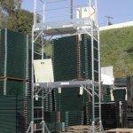 CBM-Aluminum-Scaffold-Rolling-Tower-Standing-at-12-High-Hatch-Dech-with-Gaurd-Rail-and-U-Lock-CBM1290-0