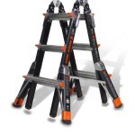 Dark-Horse-Duty-Rating-Fiberglass-Multi-Use-Ladder-0