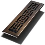Decor-Grates-AJH212-RB-8-AJH212-RB-8-Oriental-Floor-Register-Rubbed-Bronze-2-Inch-by-12-Inch-8-Pack-0