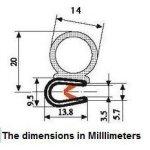 Door-Weather-Strip-3564-Bulb-diameter-x-0039-964-edge-thickness-x-532-U-Height-0-0