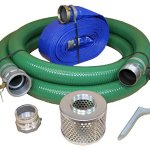 Eagle-PVCAluminum-WaterTrash-Pump-Hose-Kit-3-Green-Suction-Hose-Coupled-C-x-KCN-3-Blue-Discharge-Hose-Coupled-M-x-F-WS-29-Vacuum-Rating-70-PSI-Maximum-Temperature-50-Length-3-ID-0