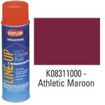 Krylon-K08311000-Krylon-Industrial-Line-Up-Wb-Athletic-Field-Striping-Paint-Athletic-Maroon-Lot-of-12-0