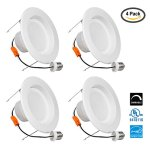 Light-Blue-18-Watt-120W-56-LED-Retrofit-Recessed-Lighting-Fixture-Cool-white-4000K-LED-Ceiling-Light-1500-Lumens-LED-Retrofit-Downlight-kit-Dimmable-UL-Listed-Enery-Star-4-PACK-0