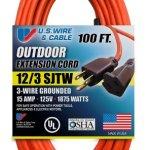 US-Wire-65100-123-100-Foot-SJTW-Orange-Heavy-Duty-Extension-Cord-0