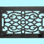 Vent-Cover-Grille-Victorian-Cast-Aluminum-No-Maintenance-Rustproof-Baked-Powder-Coat-Scroll-Design-Renovators-Supply-Logo-0