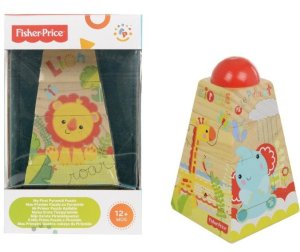 Fisher Price Wooden Pyramid Puzzle Comaco Toys Direct