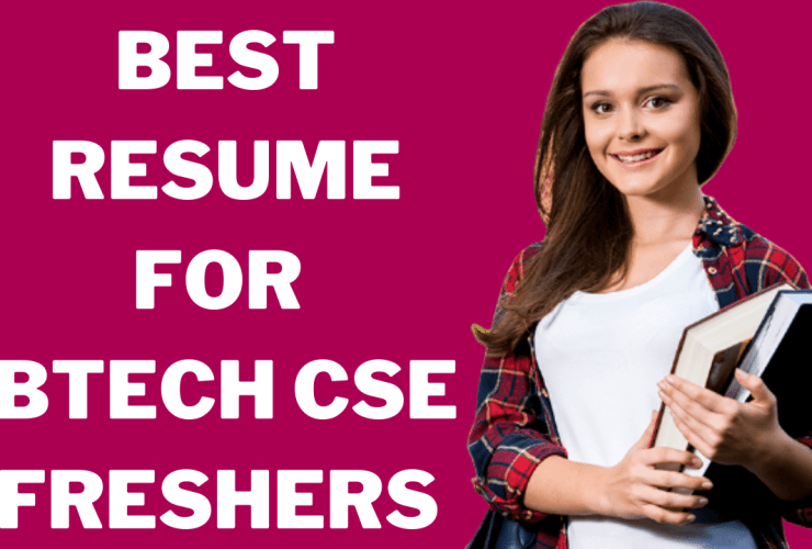 Resume For Btech CSE Freshers