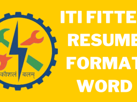 ITI Fitter Resume Format Word