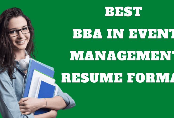 BBA In Event Management Resume
