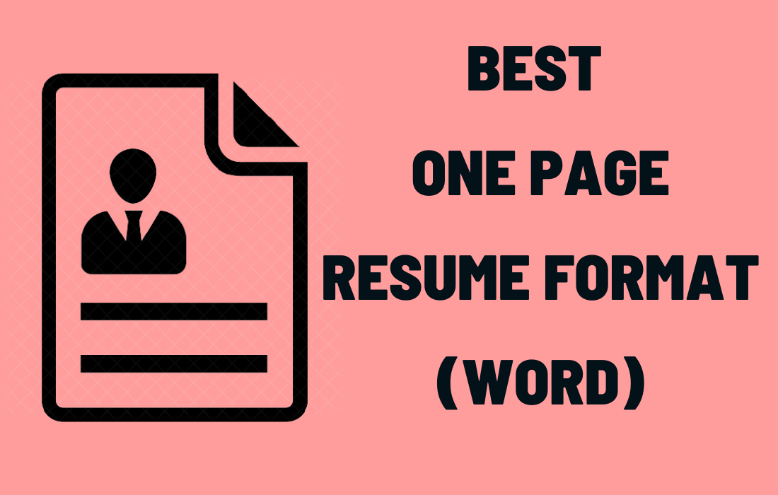 One Page Resume Format