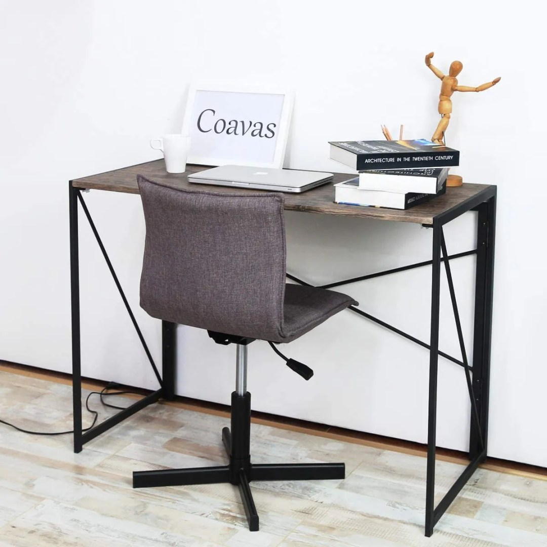 Modern and simple industrial style desk for those who love minimalist but stylish designs. 2