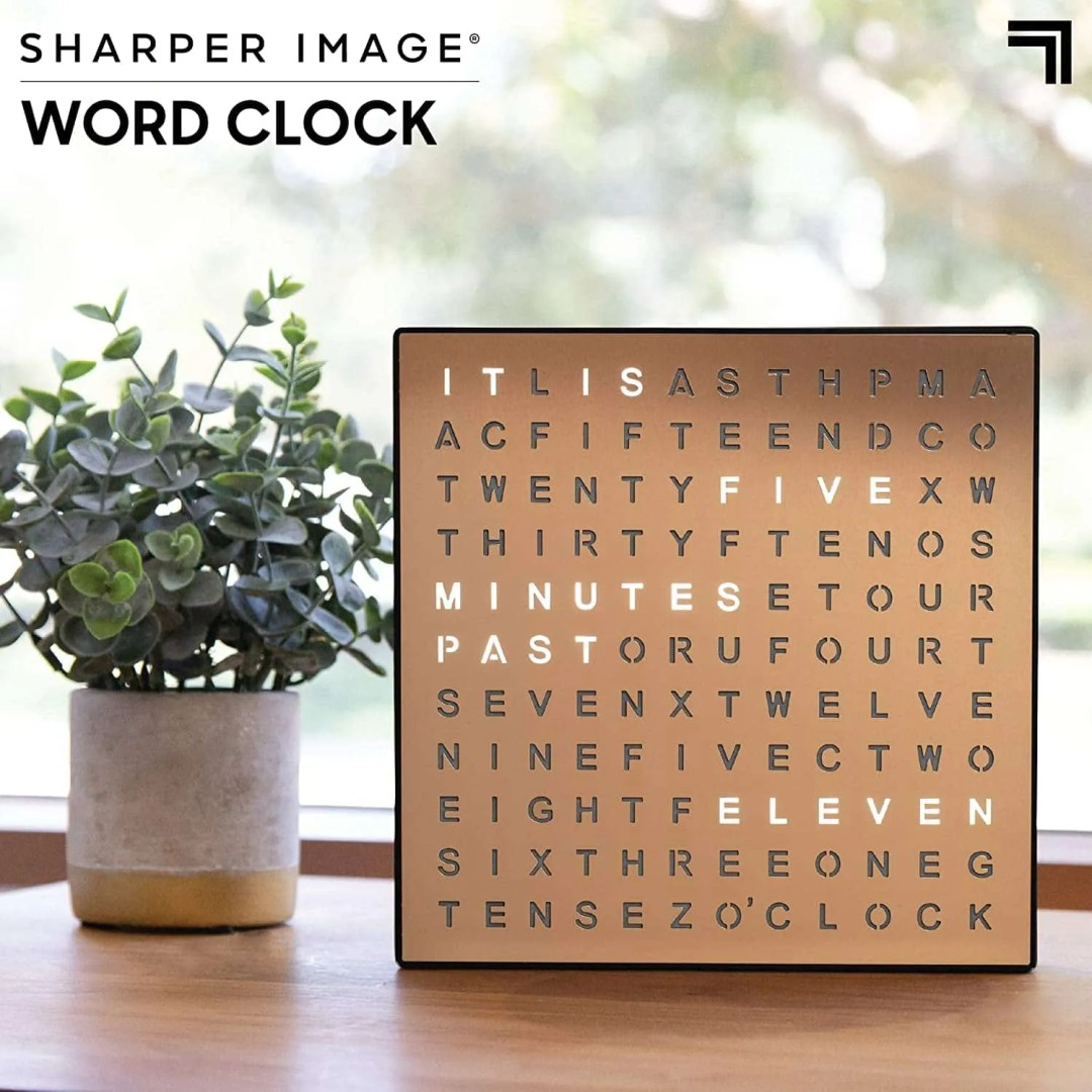 Light Up Electronic Word Clock - best modern office decor ideas