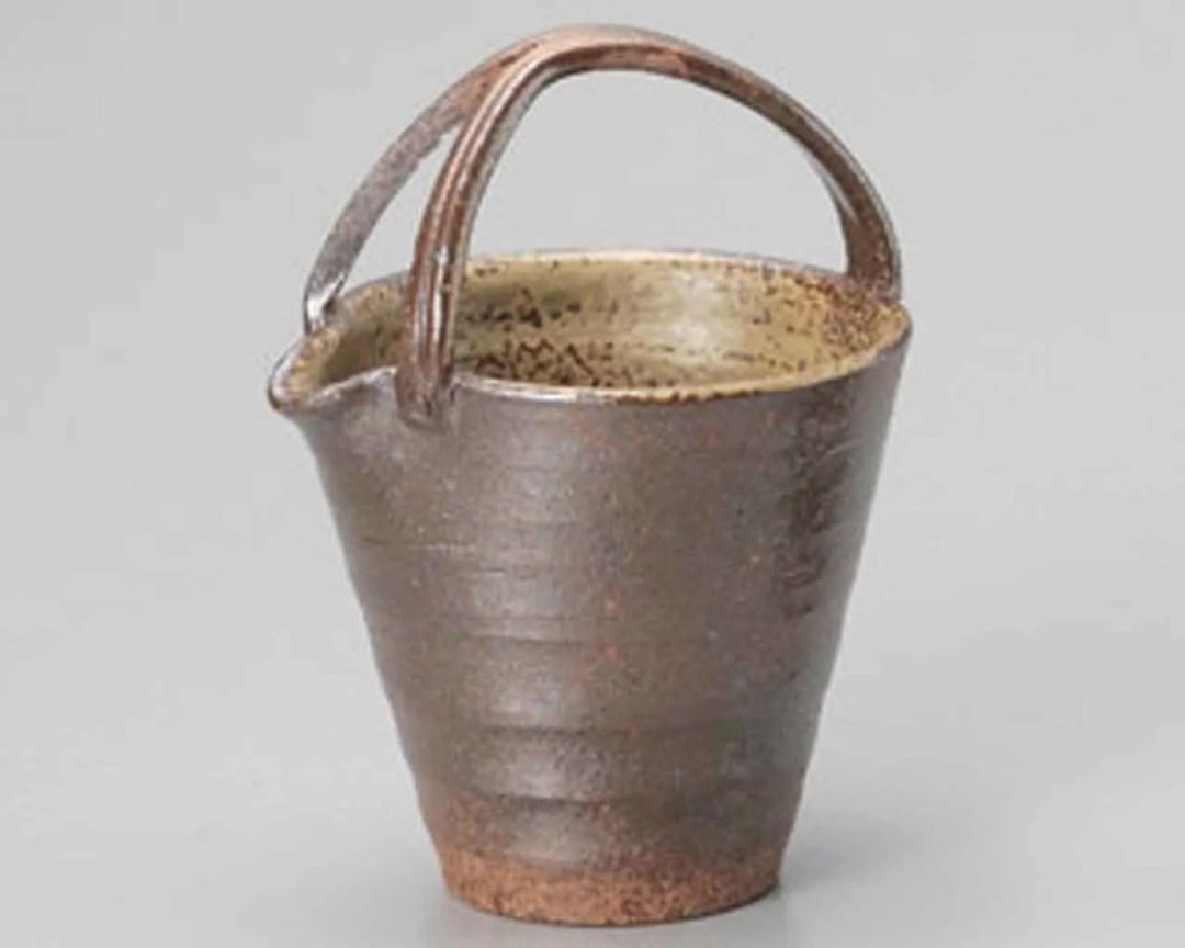 Bizen Ceramic Sake carafes Brown Made in Japan