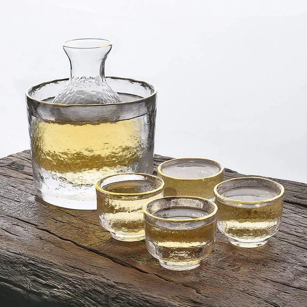 Glass Sake Set Warm,Cold