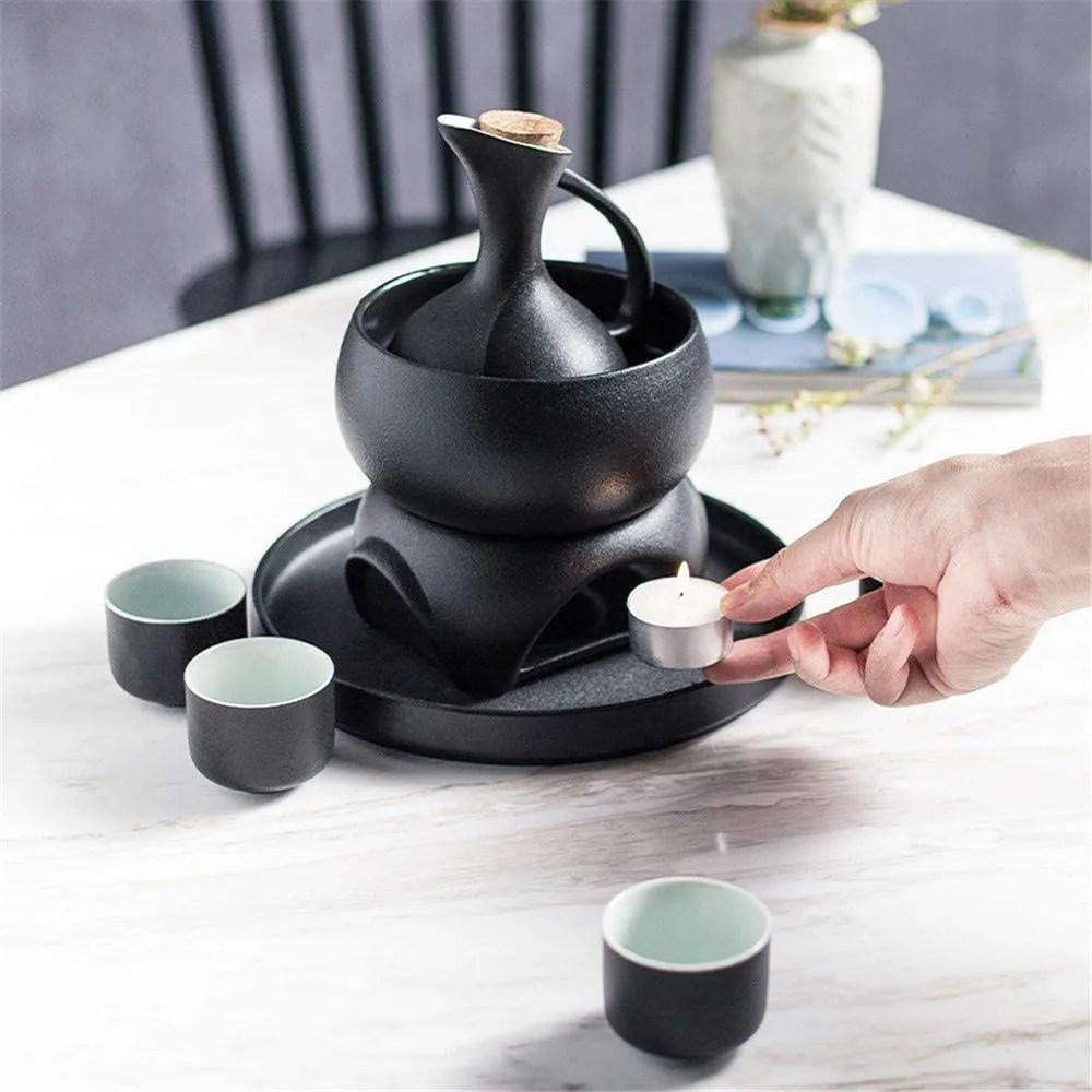 YuYun Designed Japanese Style Sake Set with Warmer
