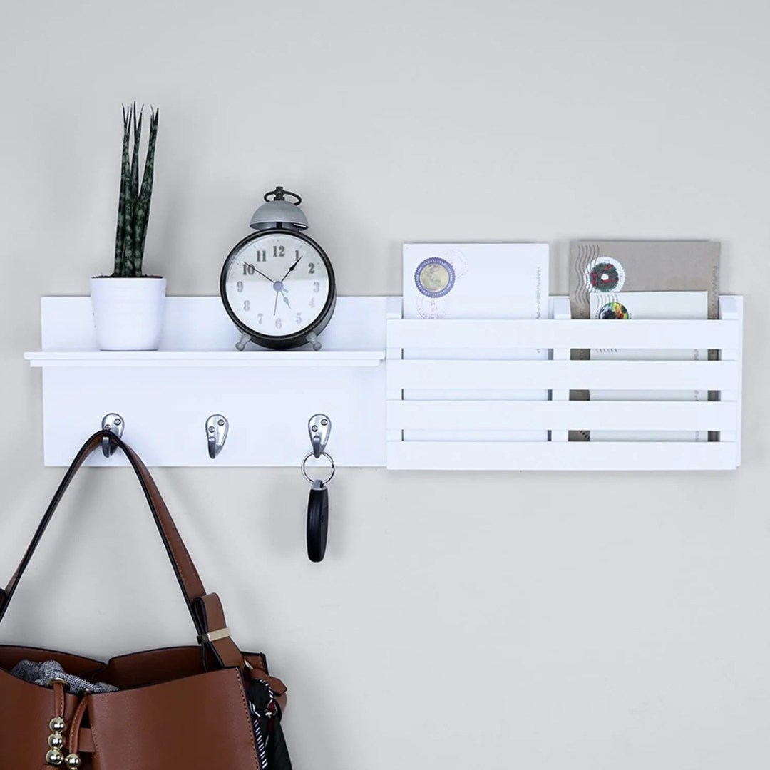 Ballucci Mail Holder and entryway organizer for home office