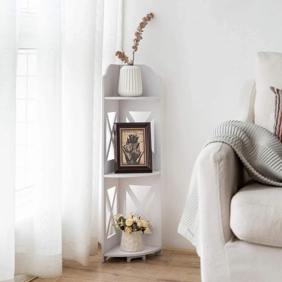 Corner Shelf for small home office