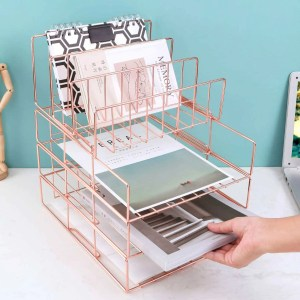 Stackable File Trays Plus Letter Holder for small offices